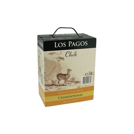 Witte Wijn Los Pagos Chardonnay bag in box 3 liter